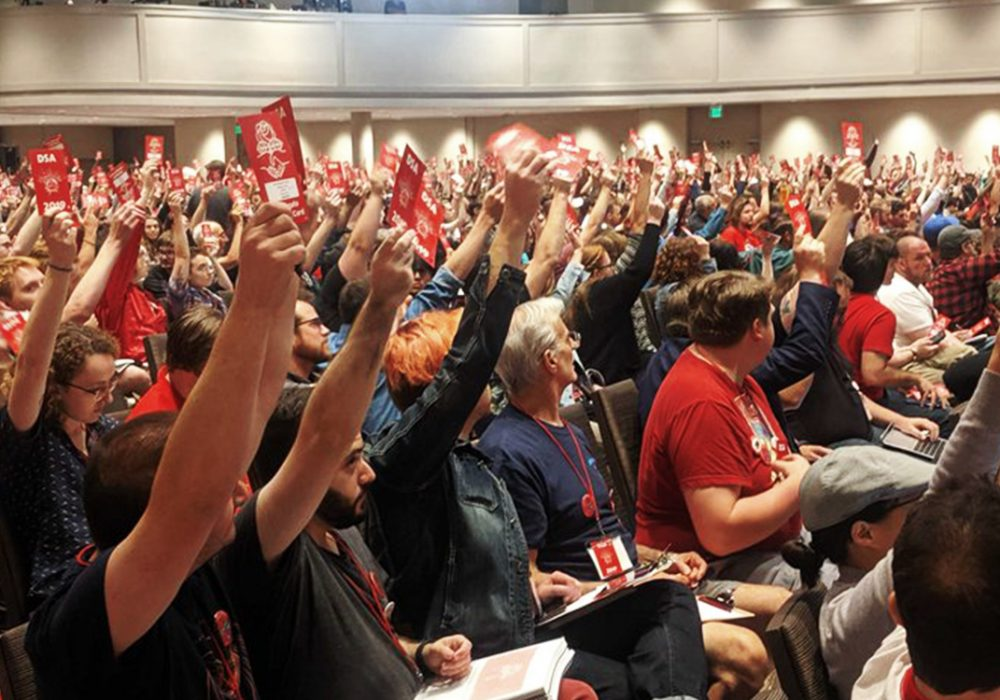 Maine DSA Convention delegates: empowering the working class